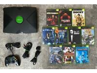Xbox console and games. Original Xbox
