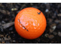 3x New Nike PD Long Orange Golf Balls