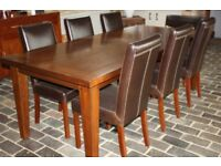 Dining Table, 8 Chairs & Sideboard