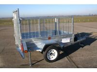 Trailer 7 x 4 With Utility Cage and Rear Loading Ramp LAST ONE !!!!!!!!