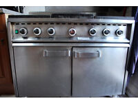 6 burner oven Fields & Pimblet Monarch commercial cattering