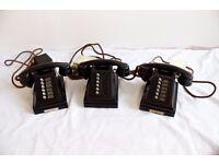 Set of 3 Bakelite Conference Phones