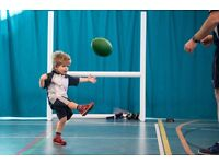 Rugbytots classes for 2-5 year olds