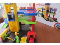 Toy Garage by Kiddicraft. Colourful practical and robust.