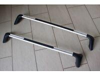 Genuine Peugeot 2 Aluminium Roof Rack Bars for 308 08-13 Hatchback 9616W2 Used