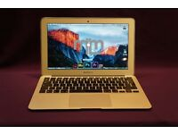 "11.4"" 1.3GHZ i5 Apple MACBOOK AIR LAPTOP 4Gb Ram 121GB SSD CUBASE 8 MICROSOFT OFFICE 2016 ABLETON"