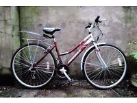 PROBIKE ENTERPRISE, 17.5 inch, ladies womens hybrid road bike, 18 speed, rack and mudguards