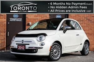 2012 Fiat 500 LOUNGE+SUNROOF+LEATHER+BOSE SOUND