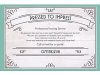 Pressed to Impress Professional Ironing Service