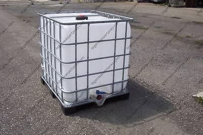 IBC Tank Container, Regenwassertank 1000L auf Stahl/PE-Palette 1.Wahl #2