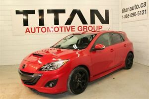 2012 Mazda MAZDA3 Speed| Manual| Leather| Sunroof| Spoiler| Red
