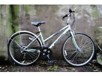 BARRACUDA EXPEDITION. 17.5 inch, 44.5 cm. Ladies womens hybrid road bike, 18 speed, light weight.
