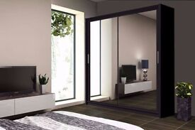 **70% DISCOUNTED PRICE**BRAND NEW BERLIN 2 DOOR SLIDING WARDROBE WITH FULL MIRROR -EXPRESS DELIVERY