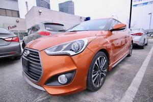 2016 Hyundai Veloster Turbo 1.6 TURBO, NAVI, LEATHER, PANO SUNRO