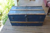 Blue Trunk - Great Coffee Table Size - Storage, Cottage