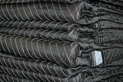 Moving Blankets 12-pack 72x80 Premium Moving Pad 65-70lbsdozenblackgrey