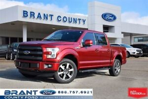 2016 Ford F-150 Lariat - 5.0 L, LEATHER, ROOF, NAV, LOW KMS!