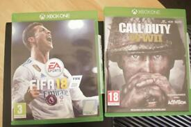Xbox One Console with Call Of Duty WW2 & Fifa 18