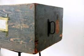 1940's wooden storage box