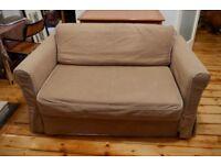 Sofa Bed Beige Ikea Hagalund