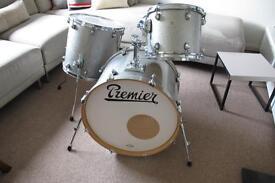 Premier Artist Birch/silver sparkle drum kit