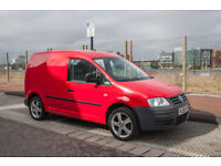 58 Volkswagen Caddy C20 TDI 104 bhp manual in RED 74k FULL S.H and IMMACULATE CONDITION MOT Apr 2019