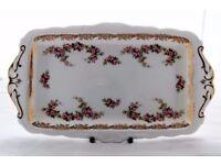 "Royal Albert ""DIMITI ROSE"" Bone China Sandwich / Cake Plate"