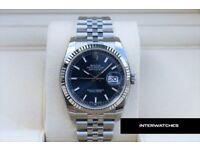 Rolex 116234 Datejust Blue Marker Dial Jubilee