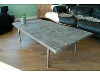Coffee Table - Large reclaimed pallet coffee table with rustic finish