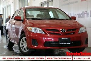 2011 Toyota Corolla SINGLE OWNER LOW MILEAGE CE London Ontario image 1
