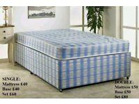Divan bed and mattress set