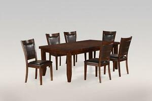 65% OFF Until August27, 2016--FLOOR MODEL 6PC Dining Set Model 1295.Set includes Table, 4 Chairs and a bench. Regula