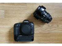 Canon 5D mk ii, Canon BG-E6 battery grip, Canon 24-105mm L lens