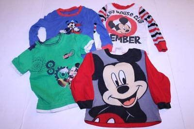 Infant/Baby Mickey Mouse 24 Months & Sz 2 Lot of 4 Items Disney