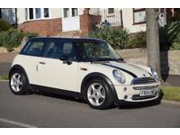 Mini Cooper, White with racing stripes. Excellent condition throughout. Long MOT