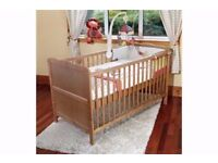 Isabella BABY Cot Bed (Stain) - Toddler Bed - Teething Rails - NEW