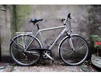 RALEIGH PIONEER 180, 22 inch, 56 cm, hybrid road city bike, 18 speed