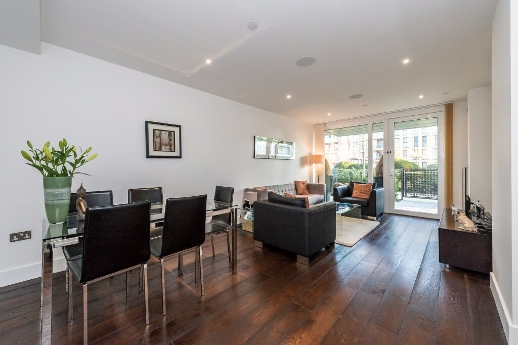 A luxurious ground floor one bedroom apartment with secure off street parking