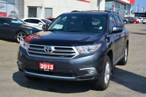2013 Toyota Highlander V6/ACCIDENT FREE! LOW KMS!LEATHER AND SUN
