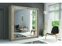 💥💯FLASH SALE ON 2/3 DOORS SLIDING WARDROBE WITH FULL MIRRORS ALL SHELVES & RAILS INCLUDED