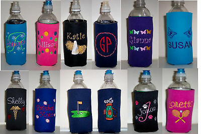 Design Your Own Water Bottle (Design your own PERSONALIZED Water Bottle Embroidered KOOZIE Cover many)