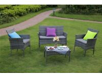 4 Piece Outdoor Rattan Garden Furniture Conservatory Sofa Set Table and Chairs BRAND NEW