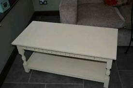 Shabby chic cream coffee table