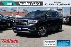 2018 GMC Acadia SLE-2/AWD/HTD STS/7 SCRN/RMT STRT/DUAL ZNE/18s
