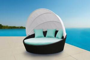 Patio furniture SALE!  Cieux Outdoor Wicker Daybed. Free local delivery in Calgary.