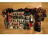(17 Piece Bundle) Vintage Film Cameras