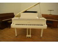 New Bentley baby grand piano. White finish. Free delivery