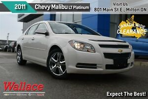 2011 Chevrolet Malibu LT PLATINUM/1-OWNER/SUNROOF/HTD SEATS/REMO