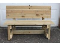 NEW HANDMADE FURNITURE BUILT TO ORDER WOODEN 1.4m GARDEN/PATIO BENCH