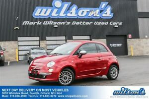 2012 Fiat 500C LOUNGE CONVERTIBLE! LEATHER! BOSE AUDIO SYSTEM! B